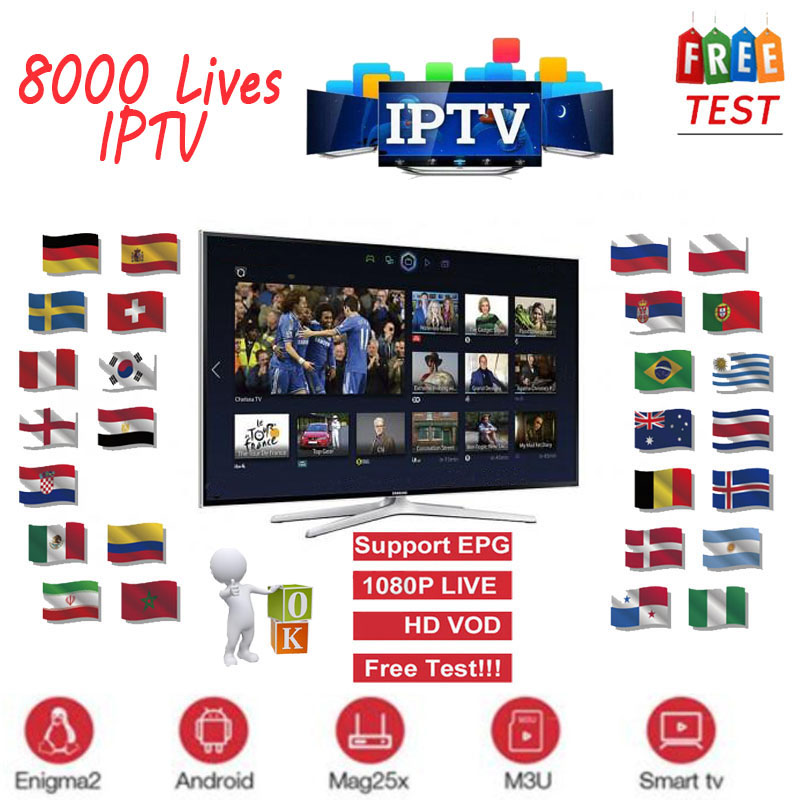 Full HD World IPTV Adult 4K 8000 Live 6300+VOD Europe Dutch Fr Spain Germany Itlay Arabic USA IPTV Subscription Smart TV M3U