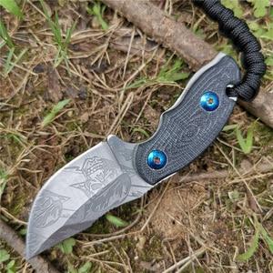 Image 3 - Cuchillo con mango 57HRC G10 hoja recta forjada de alta dureza Bueno para caza Camping supervivencia al aire libre y llevar todos los días