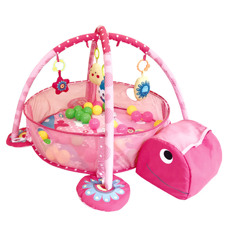 Baby Removable Fitness Frame Multifunctional Baby Crawling Cushion Animal Shape Game Cushion Presents Ocean Ball