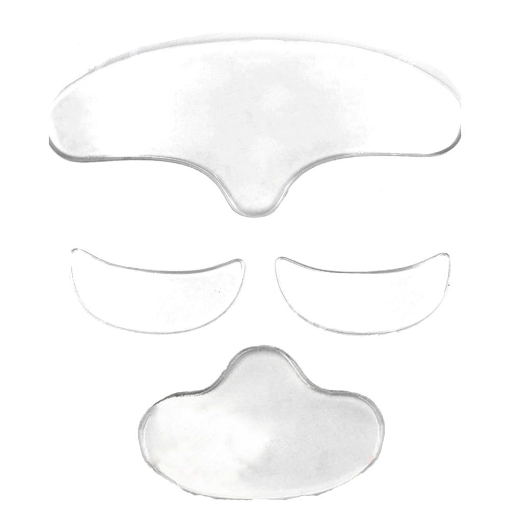 1/2/3Pcs Silicone Reusable Anti Wrinkle Forehead Eye Jaw Pad Patch Skin Care Perfectly Designed For Your Forehead, Eye And Jaw.