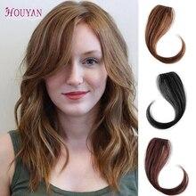 HOUYAN 25-30 см заколка для длинных волос Женская челка волосы кусок синтетическое волокно челка натуральные волосы Клип Передняя сторона имитация челок