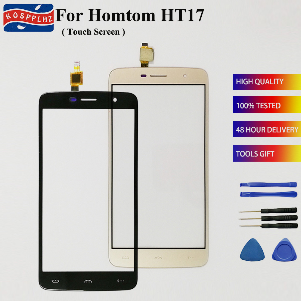 KOSPPLHZ 5.5 inch <font><b>Homtom</b></font> <font><b>HT17Pro</b></font> HT17 Pro Touch Screen Glass 100% Guarantee New Glass Panel Touch Screen HT 17 + tools image