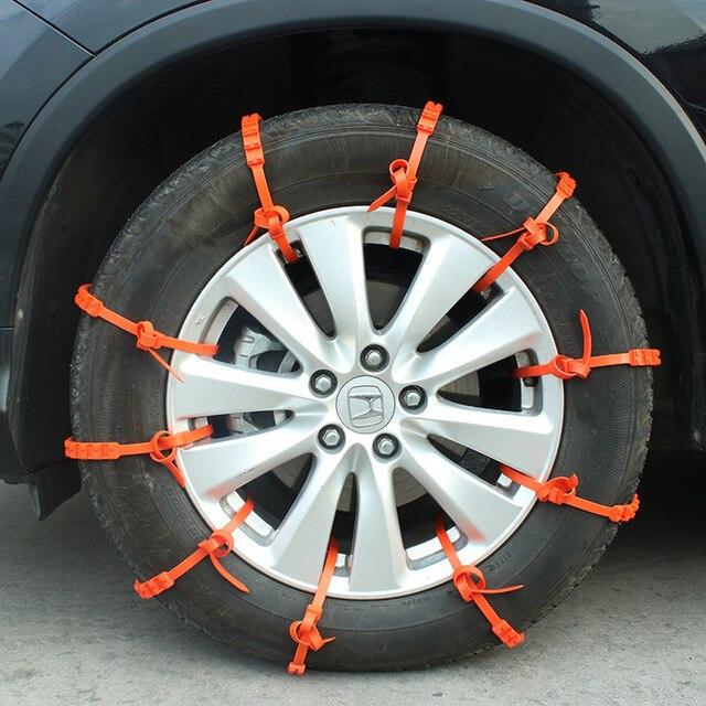 10 шт./компл. Универсальный противоскользящая конструкция автомобиль внедорожник Пластик зимние шины для мотоциклов цепи противоскольжени...