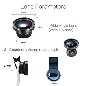 Image 3 - TOKOHANSUN Camera lens 4k HD 0.6x Wide Angle + 15x Macro Lens for IPhone 7 6s 5s 8 X XS se plus Mobile phone smartphone