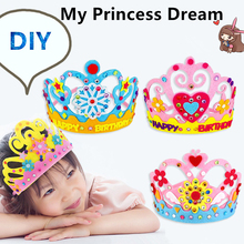 Handmade Felt Toy Present Princess Crown For Birthday Party Halloween Christmas DIY Craft Children Hat Creative Gift