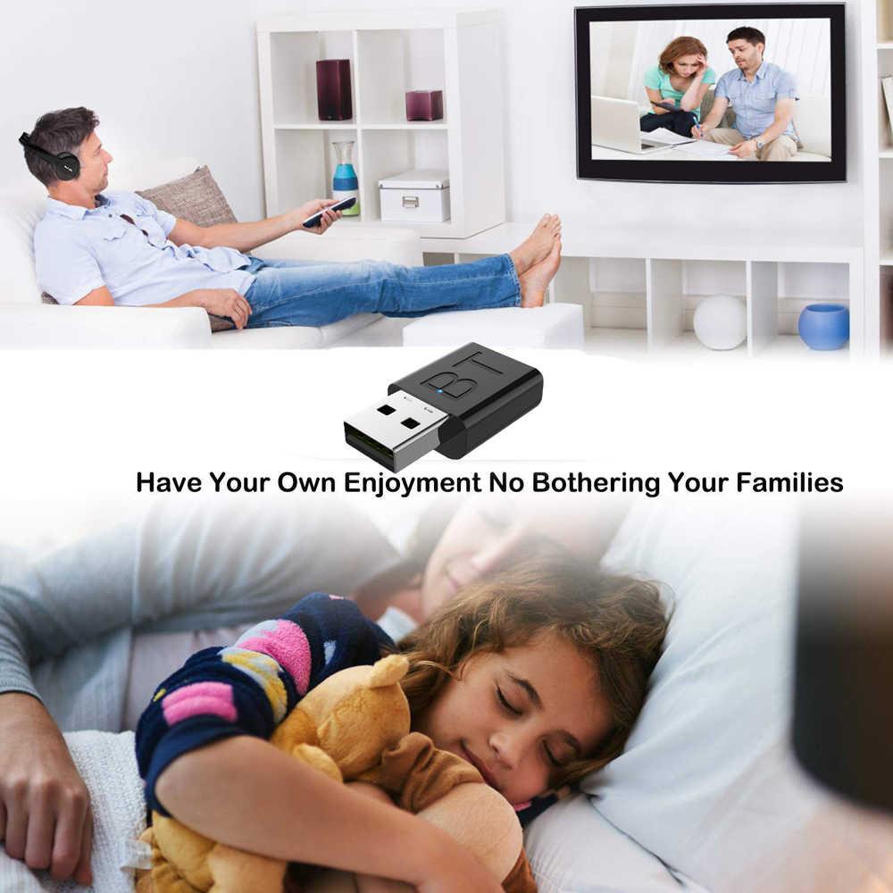 Auriculares multifunción recargables para TV, inalámbricos por Bluetooth, auriculares Ecouteur con transmisor de radio fm para TV, PC y Pad para teléfonos MP3