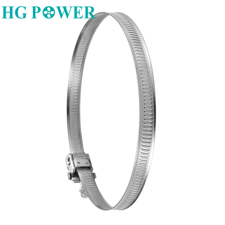 100mm Hon/&Guan 4 Stainless Steel Hose Clips Duct Clamps Adjustable Worm Drive Hose Clamp for Inline Duct Fan Pack of 2