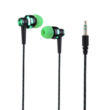 Wired Subwoofer Earphone Braided Rope In-ear Earbuds Noise Isolating Earphone for Phones MP3 MP4 LHB99 used original genuine earphone for in ear shure se215 noise sound isolating