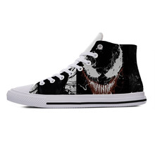 Movie Venom High Top Canvas Fashion Lightweight Shoes Breathable Shoes for Women Men(China)