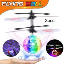 LED UFO Drone Flying Ball Helicopter Fly Toys,Color Infrared Induction Drone RC Flying Ball Hand Control Electric Kids Toys Gift цены онлайн