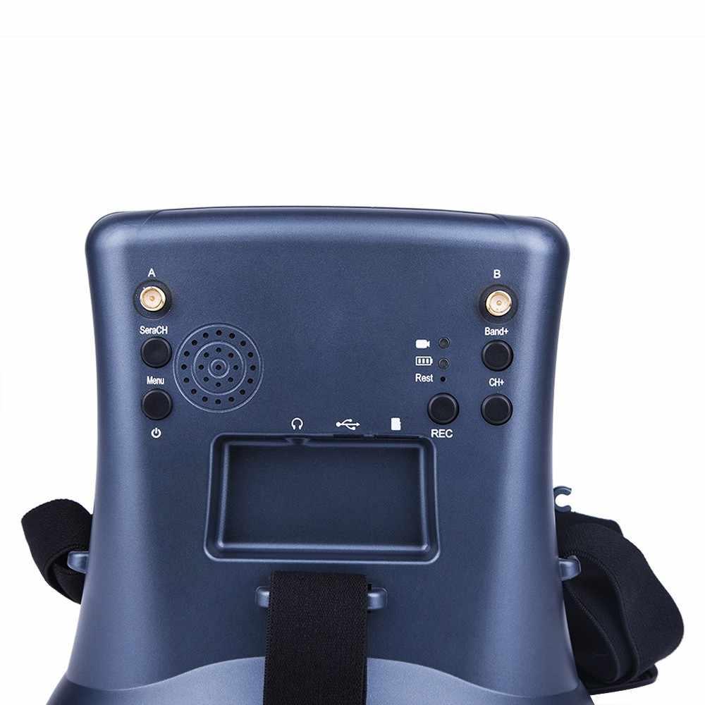 FPV траверсинг машина 5,8G передача изображения приемник 40 каналов двойной прием 4,3 дюймов видео очки с DVR
