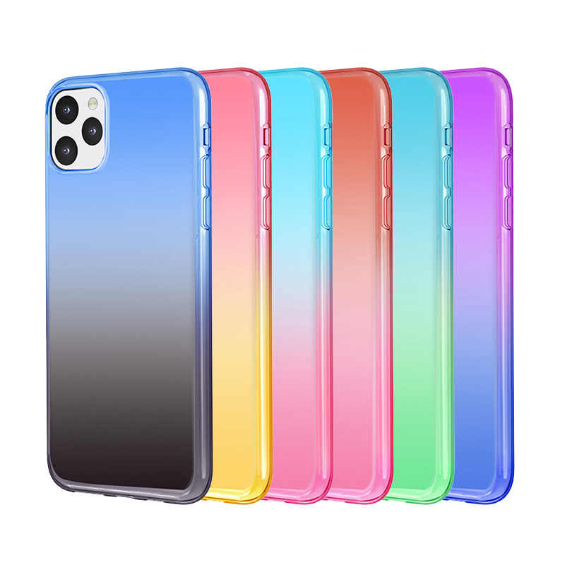 New For iphone 11 thin mobile phone case iphone 11 new gradient color transparent phone case