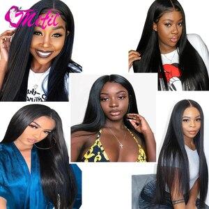 Image 5 - Mifil saç 4x4 malezya düz dantel kapatma 130% yoğunluk % 100% İnsan Remy saç kapatma ücretsiz orta üç bölüm kapatma