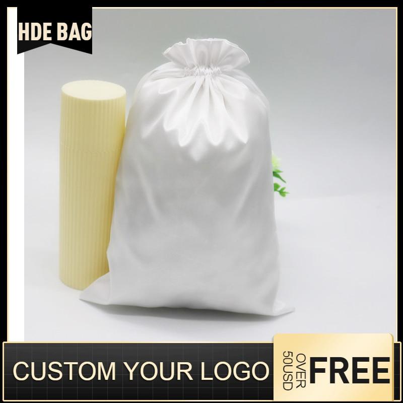 Satin Bag For Hair High Quality Silk Pouches Drawstring Bags Cloth/Shoes/Dust Bags Travel Bag