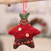 Christmas Pendants Button Decor Xmas Tree Drop Ornament Decorative Hanging Holiday