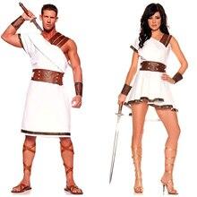 โบราณอียิปต์เครื่องแต่งกายผู้ใหญ่ผู้หญิงผู้ชายCarnivalฮาโลวีนชุดแฟนซีเสื้อผ้าโรมันทหารชุดคอสเพลย์