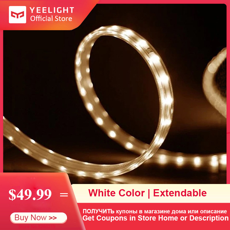 YEELIGHT 5m LED Smart Light Strip Color Temperature Adjustable Extendable Light Band Yeelight App Wifi Remote Control