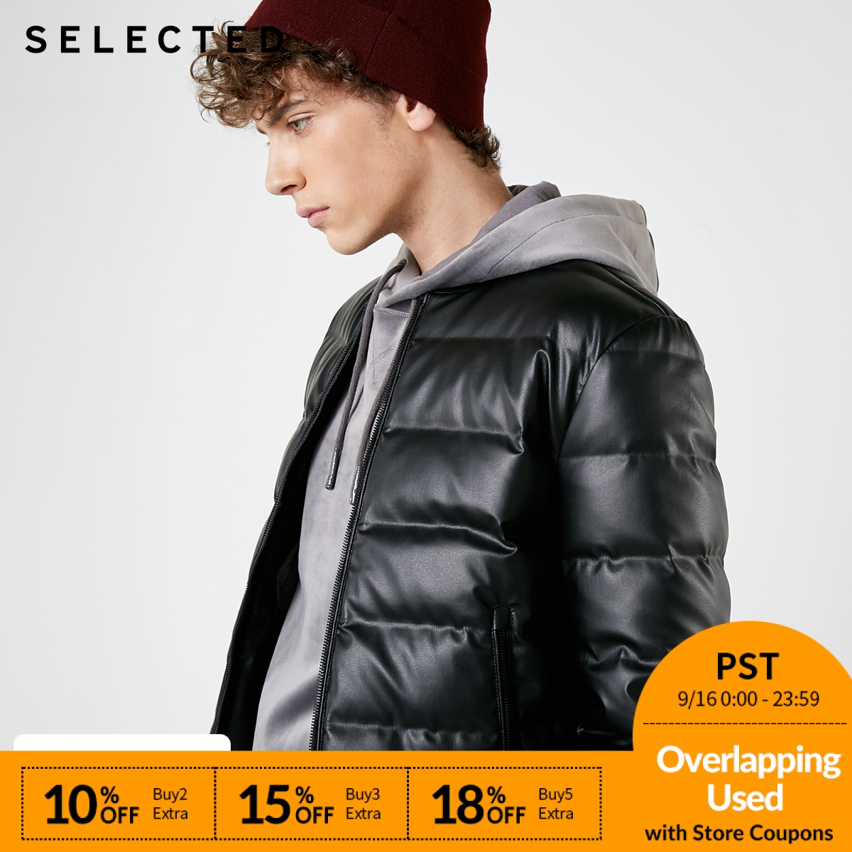 SELECTED New PU   Down   Jacket Winter Black Men's Baseball Collar Short   Down   Clothes   Coat   Paragraph S | 418412567