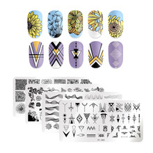 PICT YOU Rose Flower Series Stamping Plates Stainless Steel Nail Image Stamp Template  Design Plate With Stamp