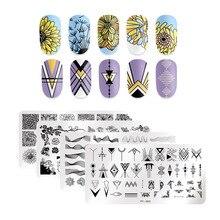 PICT YOU plaques destampage des ongles, séries de fleurs, en acier inoxydable, pour limage des ongles, plaque de Design avec tampon