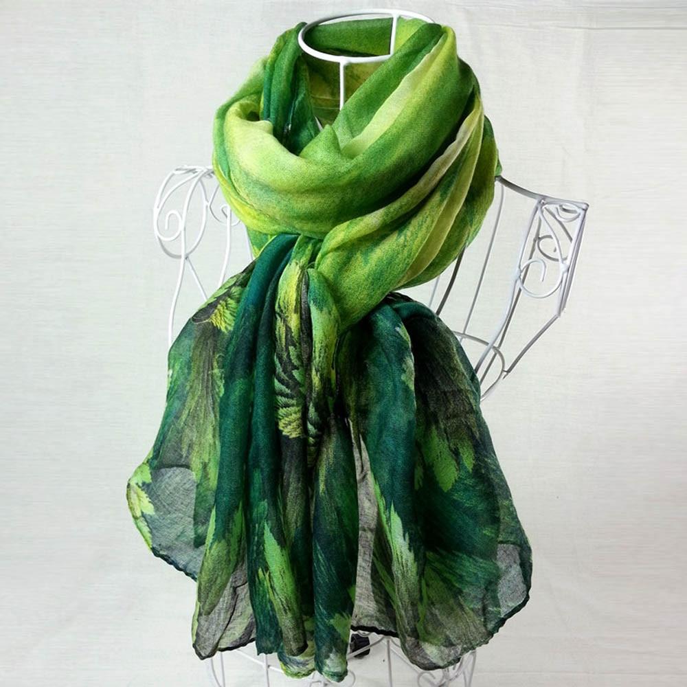 Women Printing Long Soft Paris Yarn Scarf Wrap Shawl Stole Pashmina Scarves Paris Yarn Lark Birds Print Wai Sjaal Vrouwen Foula#