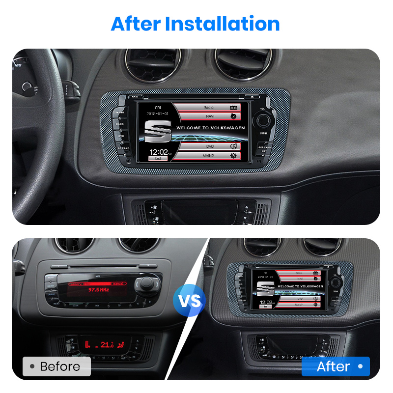 Image 3 - Junsun 2 din Car Radio car dvd player For Seat Ibiza 2009 2010 2011 2012 2013 Android 9.0 GPS navigation 4+64GB Optional-in Car Multimedia Player from Automobiles & Motorcycles