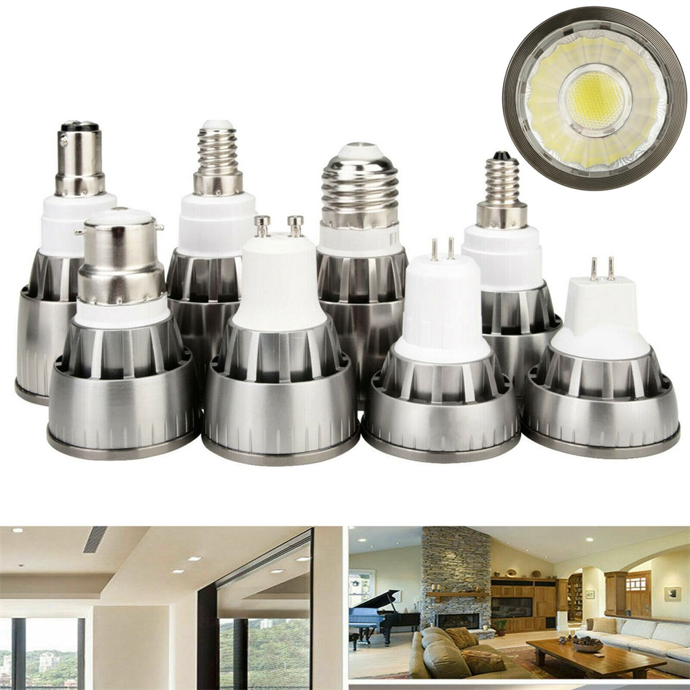 Super Bright GU10 LED COB LED Spotlight Bulb Lamp E12 E14 E27 GU5.3 B15 MR16 DC 12V Spot Light 7W 9W 12W AC 85-265V