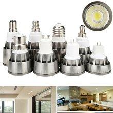 Super brillante GU10 LED COB foco lámpara E12 E14 E27 GU5.3 B15 MR16 DC 12V punto de luz 7W 9W 12W AC 85-265V(China)