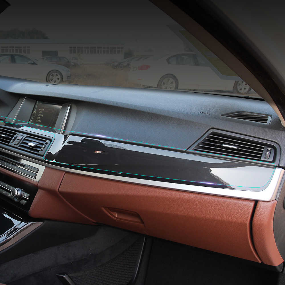 Di auto Guarigione Interni Auto Pellicola Protettiva Trasparente Pannello di Controllo Centrale Kit Sticker per BMW 5 serie F10 F18 528i 535i 520i
