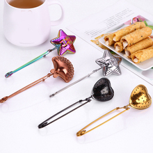 Stainless Steel New Tea Infuser Sphere Mesh Filter Loose Tea Leaves Strainer Handle Kitchen Gadgets tea bag tool tea strainer