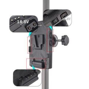 Image 5 - BP adaptateur de batterie arrière V plaque de montage de verrouillage pour Sony d tap DSLR Rig externe