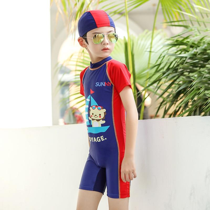 KID'S Swimwear BOY'S INS Split Type Sun-resistant Quick-Dry Tour Bathing Suit Baby Big Kid Boy Seaside Beach Shorts Hot Springs
