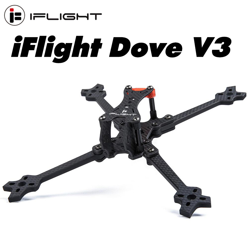 iFlight Dove V3 5inch 218mm FPV Racing Frame with 5mm arm compatible Xing 2207 <font><b>2306</b></font> motor/5.1inch Propeller for FPV Racing drone image