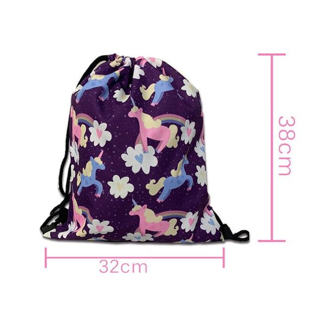 Cute Animal Sloth Print Drawstring Bag Ladies Storage Bag Women Fashion Shopping Bags Teenager Boys Girls Backpack Bookbag 5