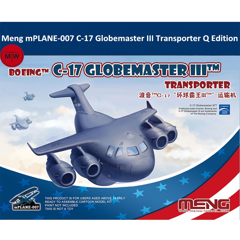 Meng MPLANE-007 C-17 Globemaster III Transporter Q Edition Plastic Assembly Model Kits