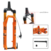 цена на 27.5/29inch Cone Tube Disc Brake Magnesium Alloy Fork Mountain Bikes Line-control Damping MTB Rock Shox Oil And Gas Fork