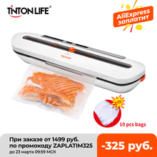 Packaging-Machine Packer Bags Vacuum-Sealer Tinton Life with 10pcs Free