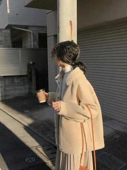 2020 early spring anti sheepskin coat female new loose plush coat shirt