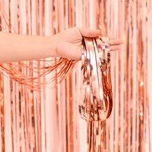 Занавеска с блестками 1X2 м разноцветная дверь занавес свадебный реквизит горячие продажи сценический баннер ленты вечерние украшения перекрещивание