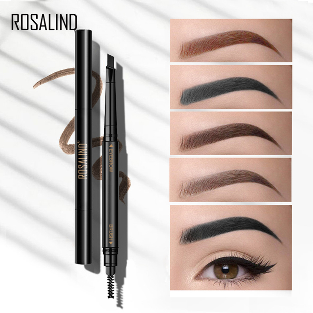 ROSALIND Eyebrow Shadows Pencil For Eyebrows Dye Marker Double End Eyebrow Pencil Tattoo Fine Sketch Brow Tint Cosmetic Stencil