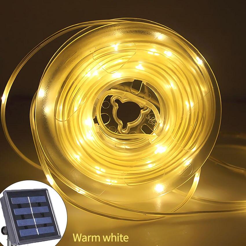 Solar Rope Tube Fairy Garden Lights Waterproof Licht 100 LED Girlanda Solarna Lamp String Outdoor Luz