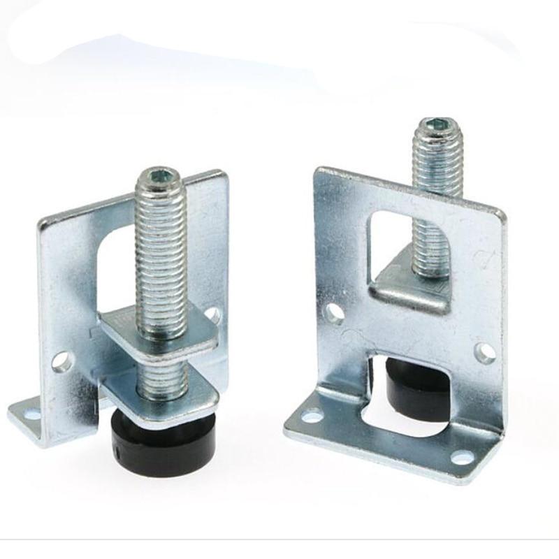 5cm Dia M10 Thread Furniture Feet Adjustable Stainless Steel Silver