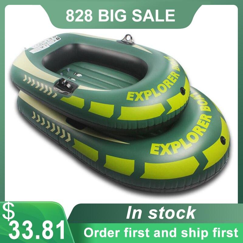 Barco de ar Barco de Pesca Novo Inflável Caiaque Pvc Barco Canoa Remo Válvula Dupla Deriva Mergulho 150 – 188cm
