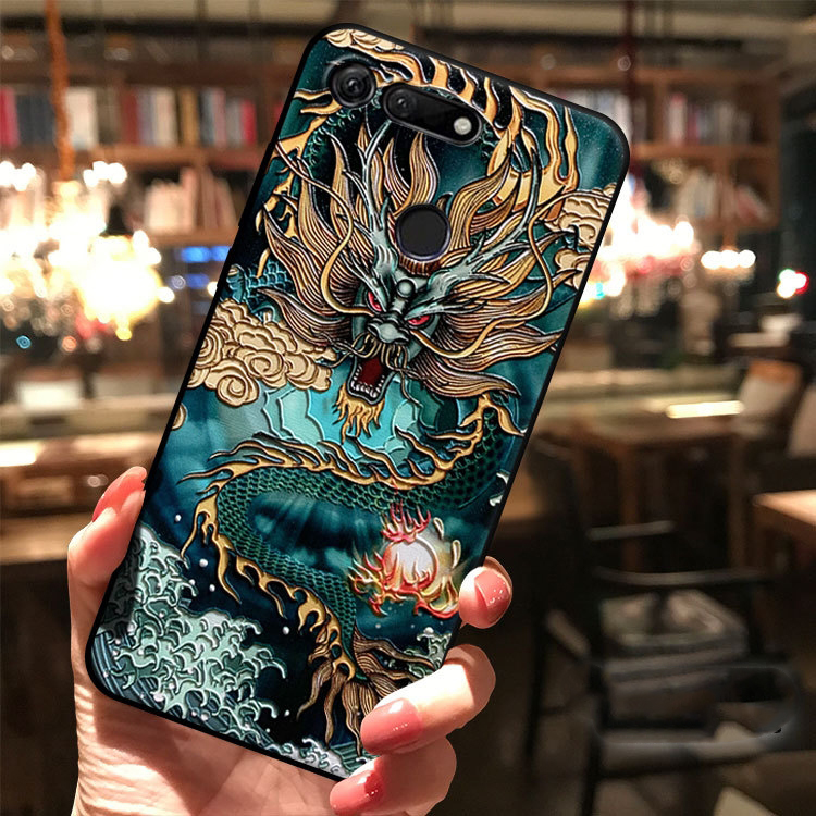 for Huawei Honor V30 V20 30 30S 20 Pro View V10 V9 X10 Lite 9i 9X 8X 8 7C Magic 2 Case Embossed 3D Relief Antiscratch Soft Cover(China)