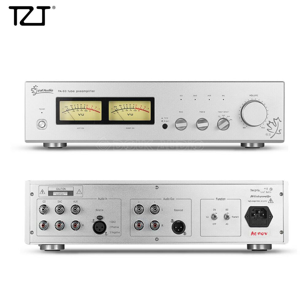 TZT Vacuum Tube Preamplifier Class A Single-Ended XLR Balanced Audio Preamp ARC LS22 Standard 110V/220V