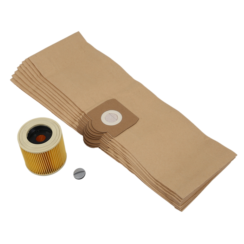 Replacement Filter Cleaner Bags for Karcher WD3 WD 3.300 M WD 3.200 WD3.500 SE <font><b>4001</b></font> SE 4002 WD3 P 6.959-130 Bag Filter image
