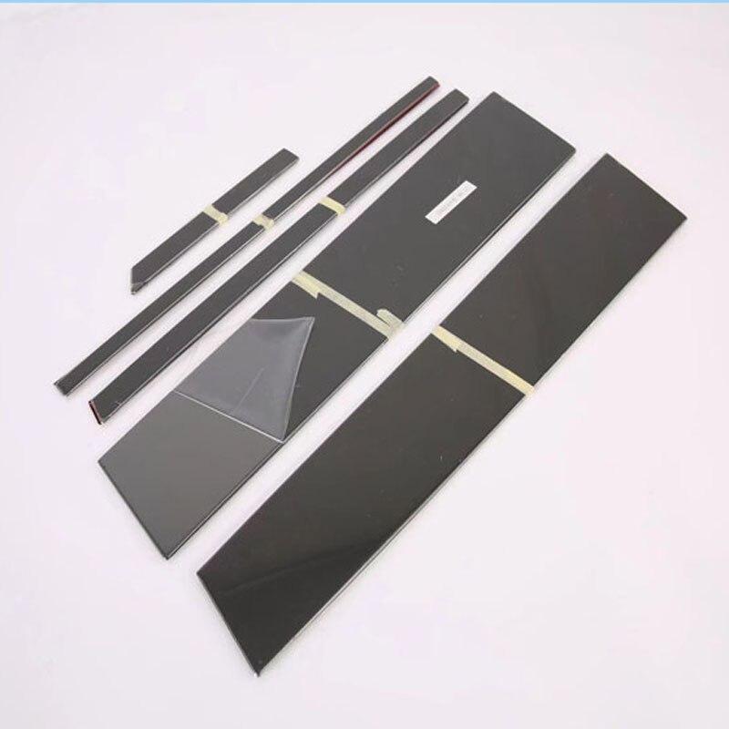 Pour toyota rav4 rav 4 xa50 2019 2020 accessoires pièces voiture fenêtre pilier couverture garniture accessoires décoration couvre noir
