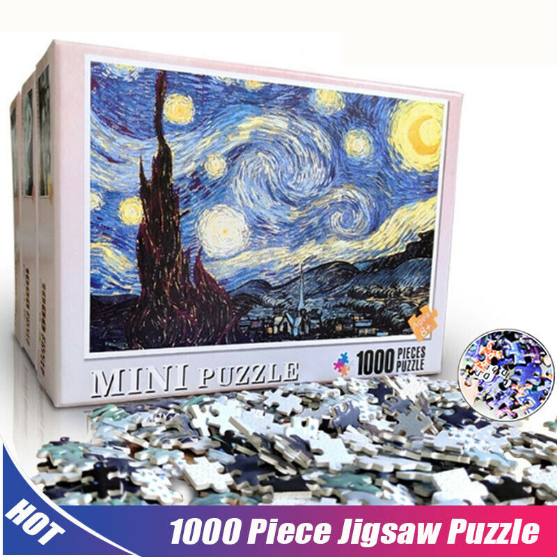Adults 1000 Piece Jigsaw Puzzle Starry Starry Sky Train Meng Huan Star Sporis Space Travelers White Peacock Animal Plane Puzzle
