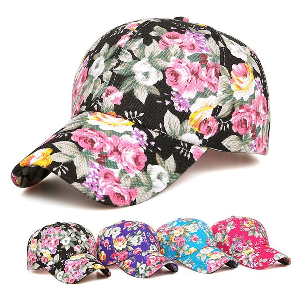Fashion Rose Floral Print   Baseball     Cap   for Women Men Sport Snapback   Caps   Breathable Mesh Hats Casual Golf Hat Sun Gorras