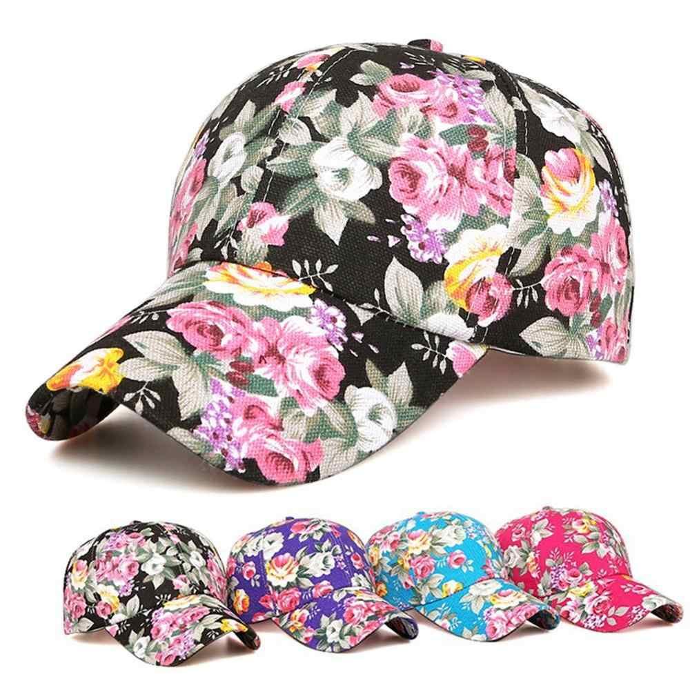 Gorra de béisbol con estampado Floral rosa a la moda para mujer, hombre, gorra deportiva, gorra de malla transpirable, gorra de Golf informal, gorra de sol